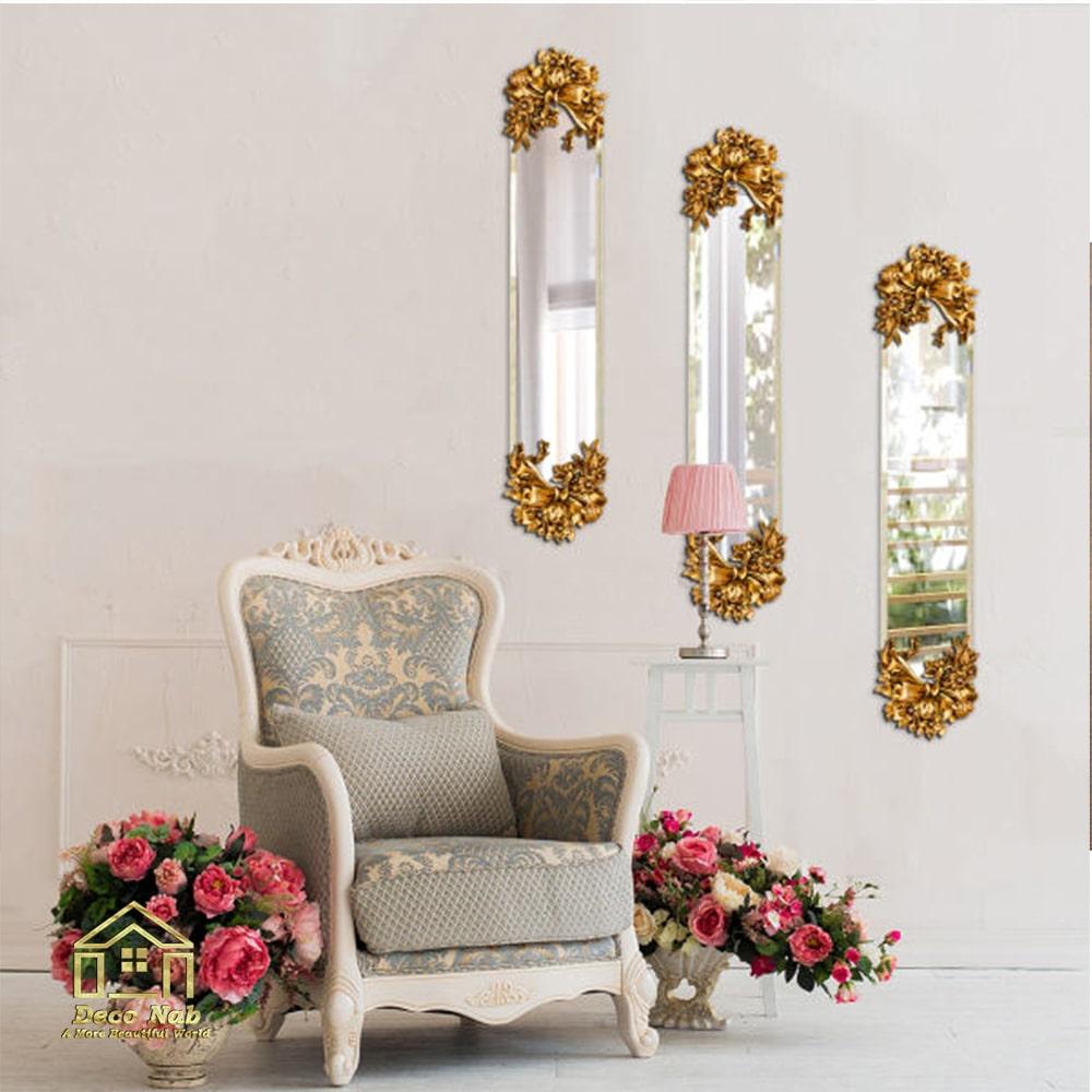 آینه لوکس طرح پاپیون فانتزی زیبا