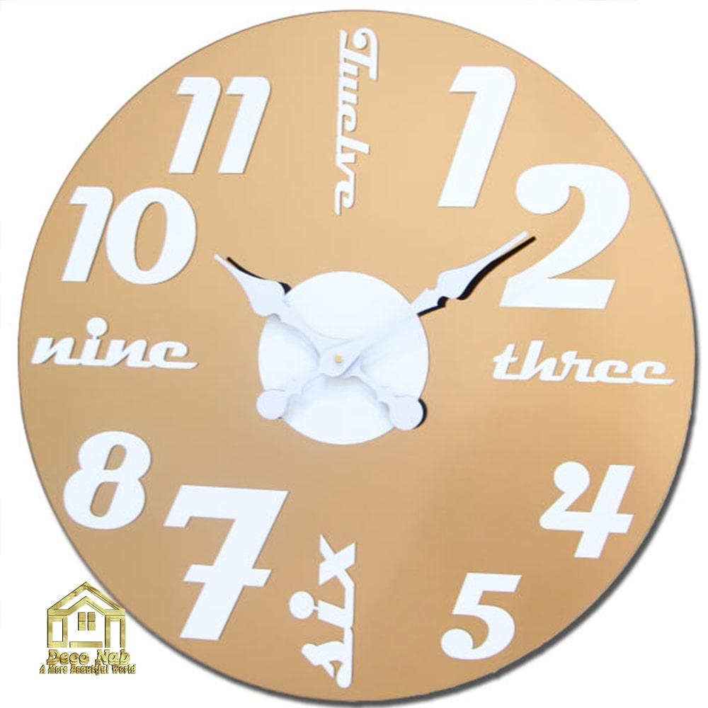 ساعت دیواری لوکس گلکسی برنز