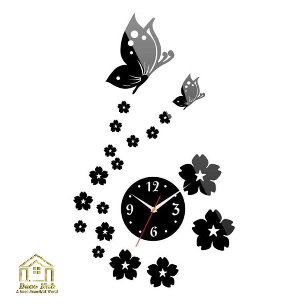 ساعت دیواری فانتزی براق بهار زیبا